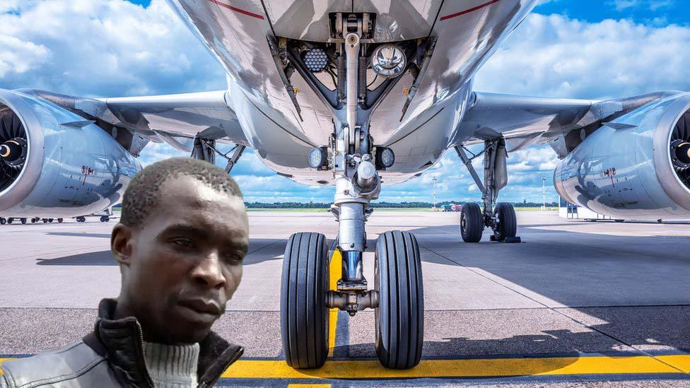 Мъж летя 9000 км с British Airways, вързан за колесника