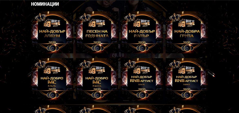359 Hip-Hop Awards 2021 обявиха ТОП 5 във всички категории за изминалата 2020 година