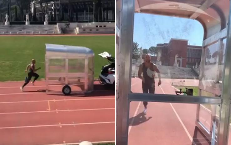 Нетрадиционната тренировка на новия шампион в леката атлетика на 60 м (ВИДЕО)