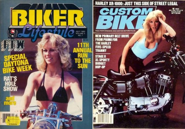 Супер яко! Корици на списания с мацки на мотори от 80-те години (ГАЛЕРИЯ)