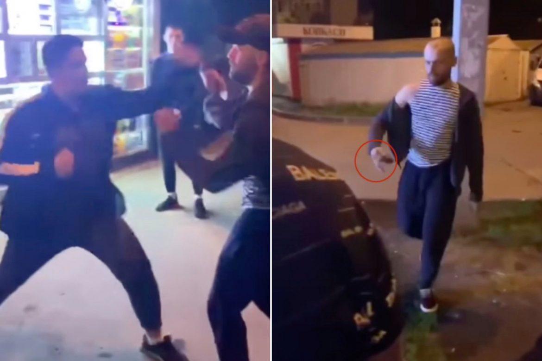 Мъж използва граната в уличен бой (ВИДЕО)