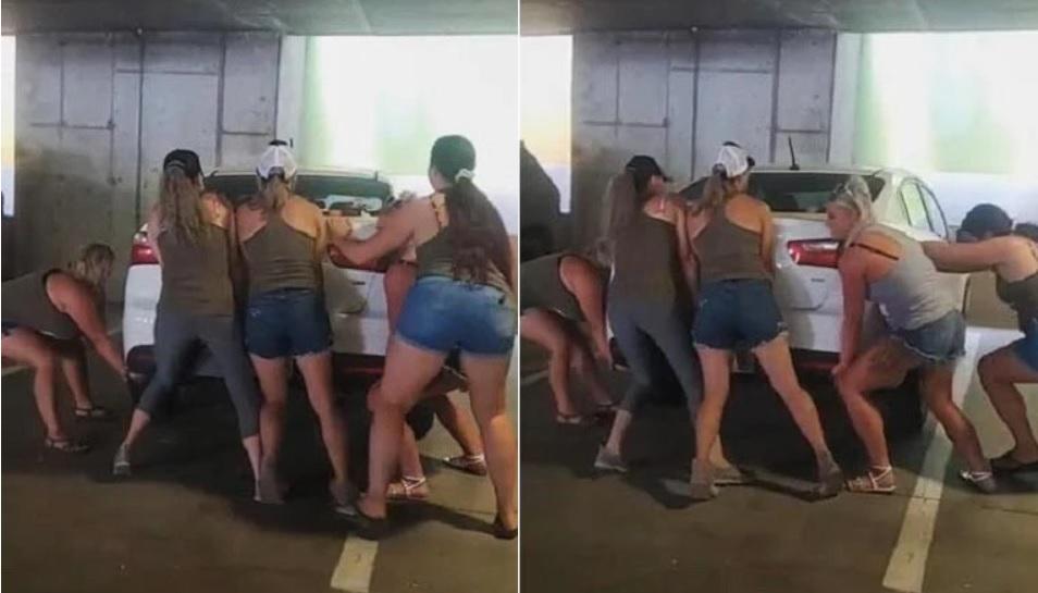 ВИДЕО: Цецки местят с голи ръце зле паркирана кола