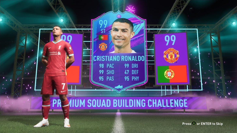 Роналдо с по-слаби показатели на FIFA22
